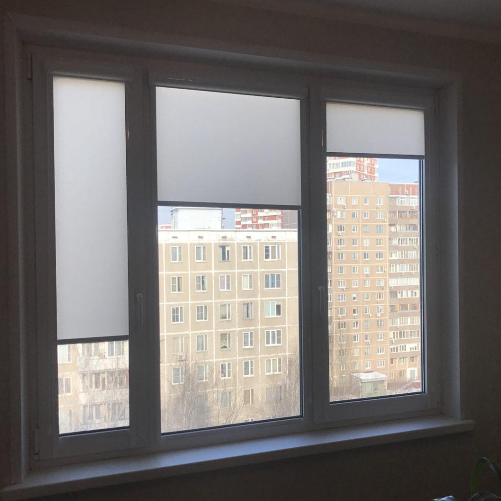 рулонные шторы без сверления