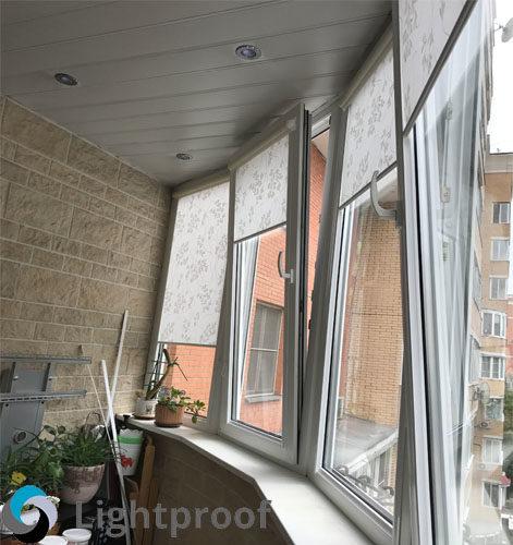 Рулонная штора на балкон