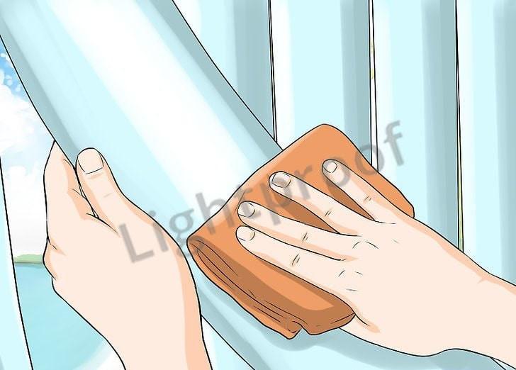 Как почистить вертикальные жалюзи