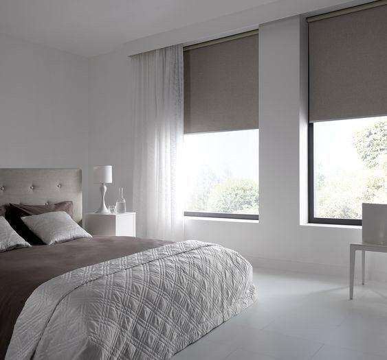 Рулонные шторы серые