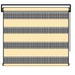Рулонные шторы классика lvt зебра бежевые