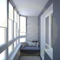 Рулонные шоры на балкон