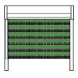 Рулонные шторы uni 1 зебра зеленые